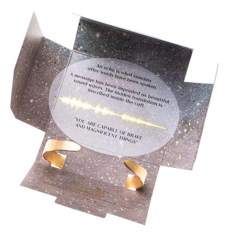 "Echo Cuff: ""She believed she could"" - Gold"