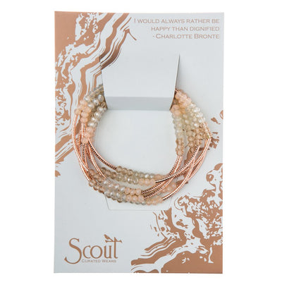Scout Wrap : shell/rose gold