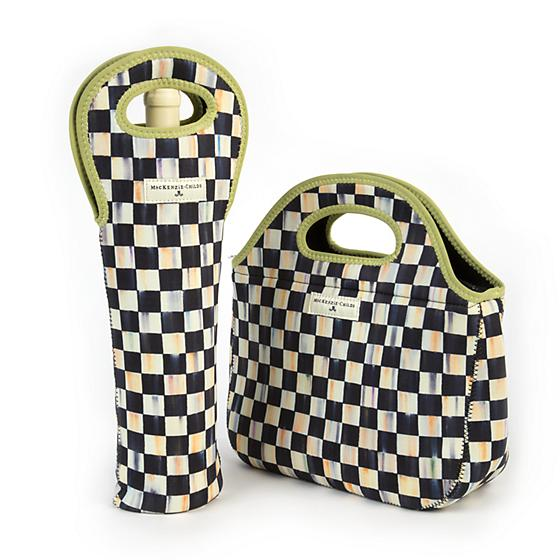 Courtly Check Wine Tote