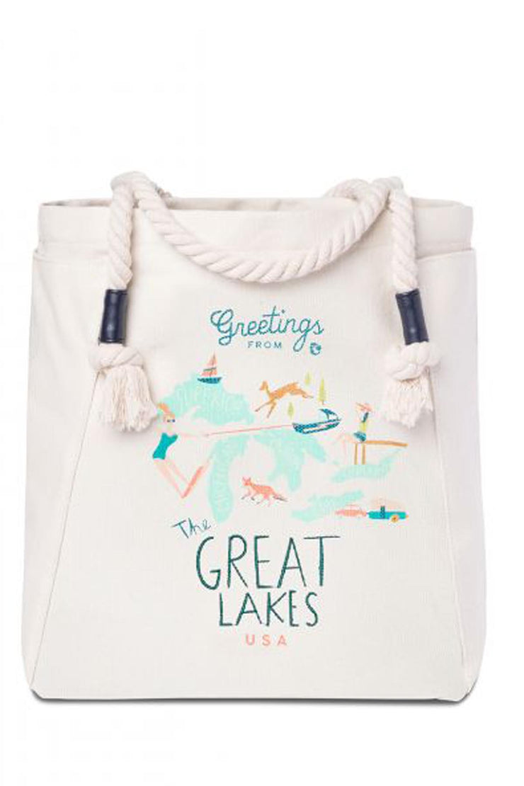 Great Lakes Canvas Tote