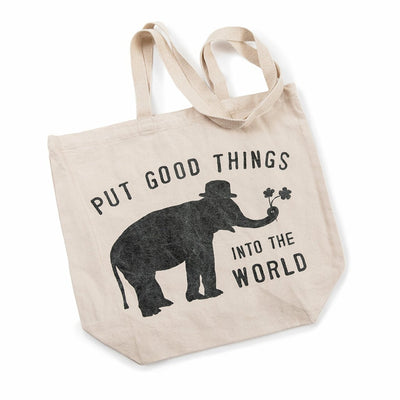 Put Good Things Into The World Canvas Tote
