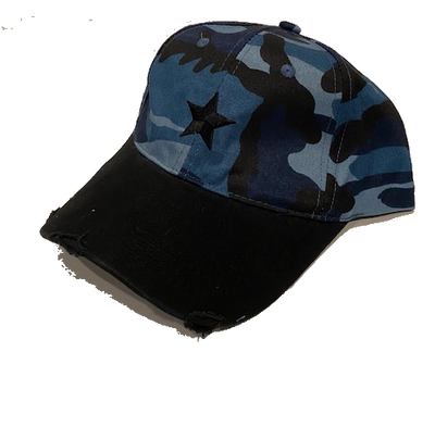 Boardwalk Baseball Cap: Blue Camo