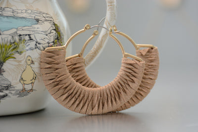 Suede Hoop Earrings
