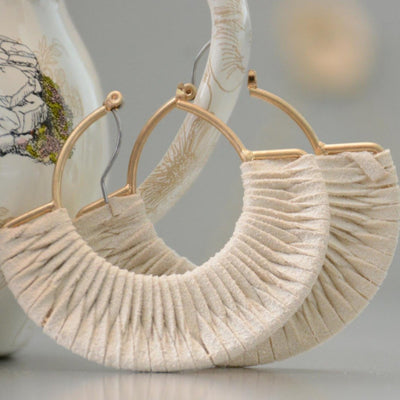 Suede Wrapped Hoops