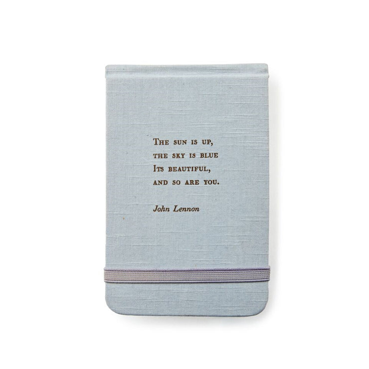 JOHN LENNON QUOTE  FABRIC NOTEBOOK