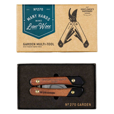 Garden Multi-Tool, Wood & Titanium Finish