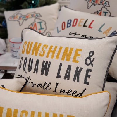 Sunshine & Squaw Lake Pillow