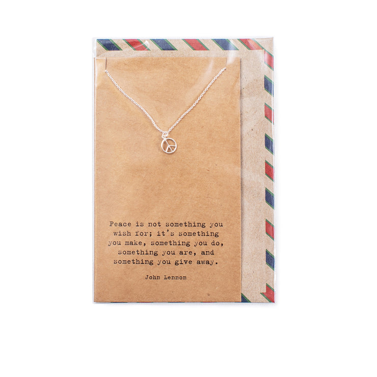 Air Mail Charm Necklace