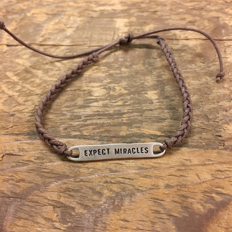 Expect Miracles Braided Bracelet
