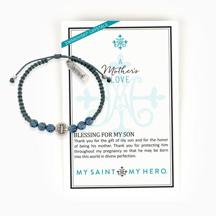 A Mother's Love Blessing for My Son Bracelet