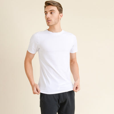 Cool Touch Cotton Blend Crewneck Essential Active Shirt