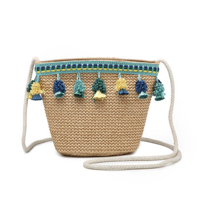 Isabella Straw Crossbody with Tassel