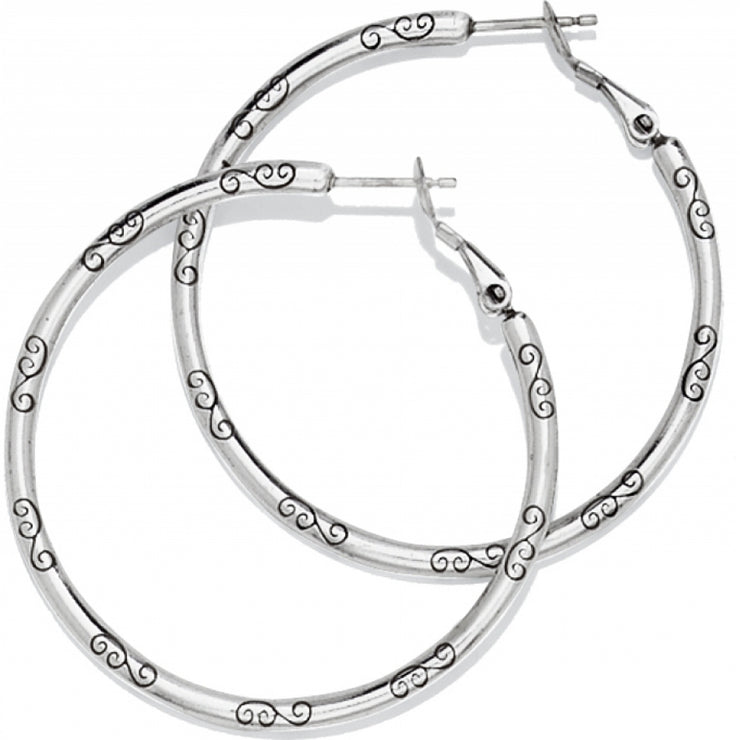 Large Earring Charm Hoop