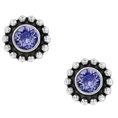 Twinkle Mini Post Earrings - Tanzanite