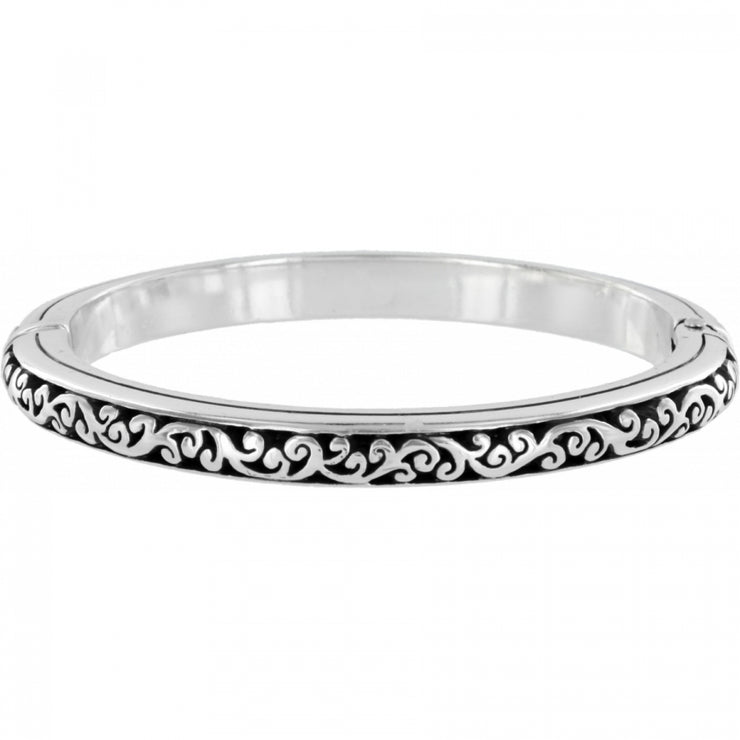 Sacred Cross Hinged Bangle
