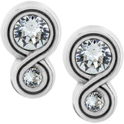 Infinity Sparkle Post Earrings