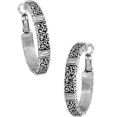 Baroness Leverback Hoop Earrings