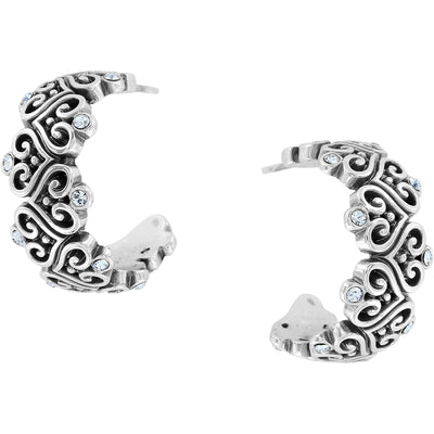 Alcazar Heart Hoop Earrings