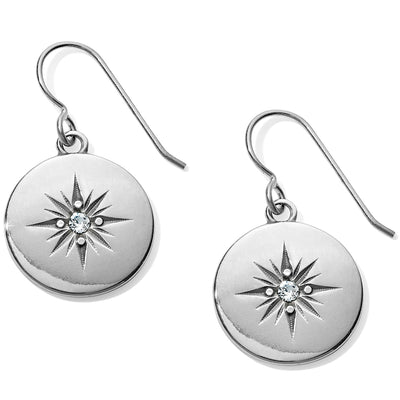 Coastline Compass French Wire Earrings