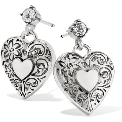 One Heart Post Earrings