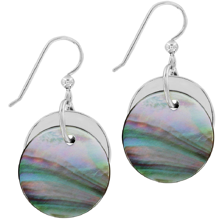 Neptune's Rings Shell French Wire Earrings