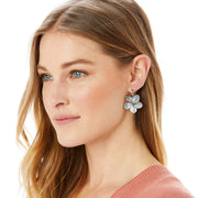 Neptune's Rings Shell Flower Earrings