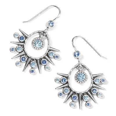 Halo Ice French Wire Earrings