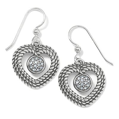 Portuguese Heart French Wire Earrings