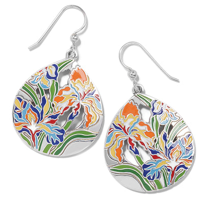 Iris Bloom French Wire Earrings
