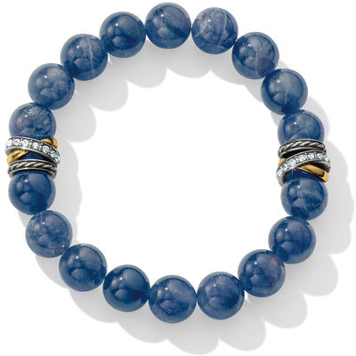 Neptune's Rings Brazil Blue Quartz Stretch Bracelet
