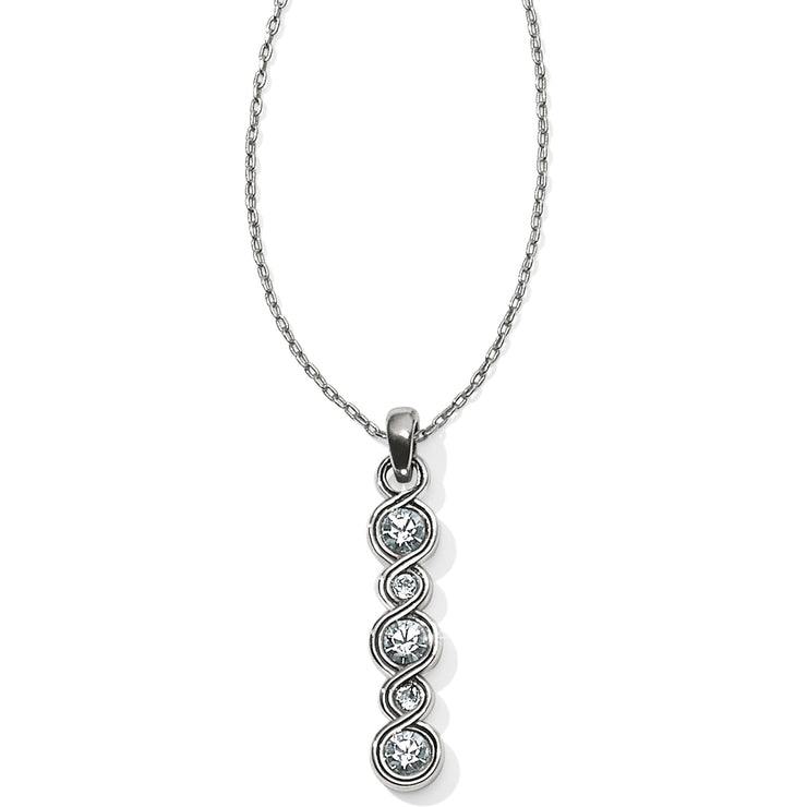 Infinity Sparkle Bar Necklace