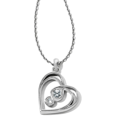 Infinity Sparkle Petite Heart Necklace