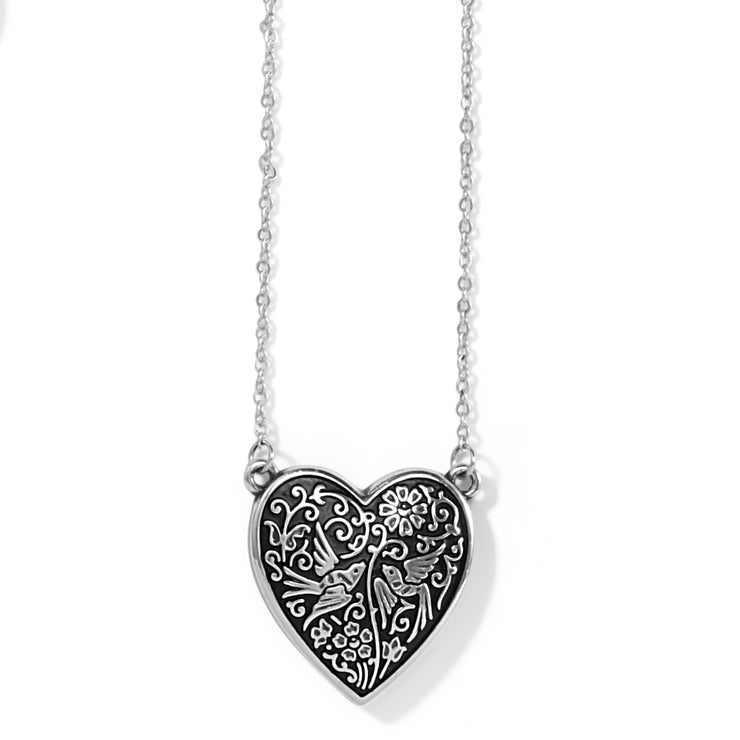 Moonlight Garden Heart Necklace