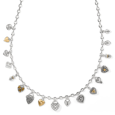 One Heart Charm Necklace