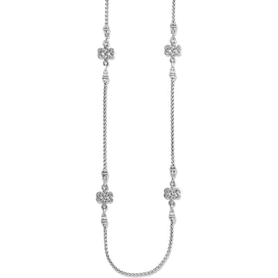 Interlok Endless Knot Long Necklace