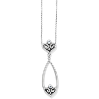 Alcazar Heart Teardrop Necklace