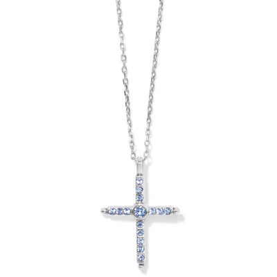 Color Drops Cross Necklace