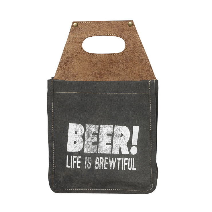 """LIFE IS BREWTIFUL"" BEER CADDY"