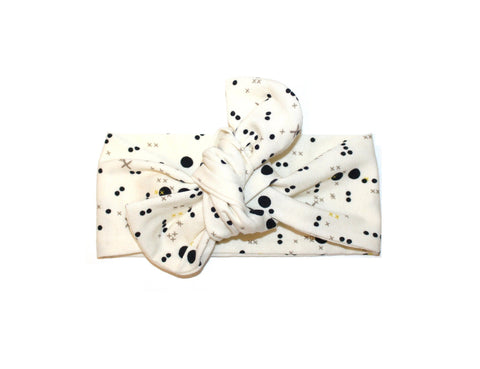 Top knot headband cream circuit headband (Baby girls, toddler girls, little girls & big girls). One size only!