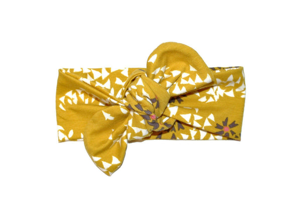 TOP KNOT HEADBAND - MUSTARD SHORE HEADBAND (One size only)