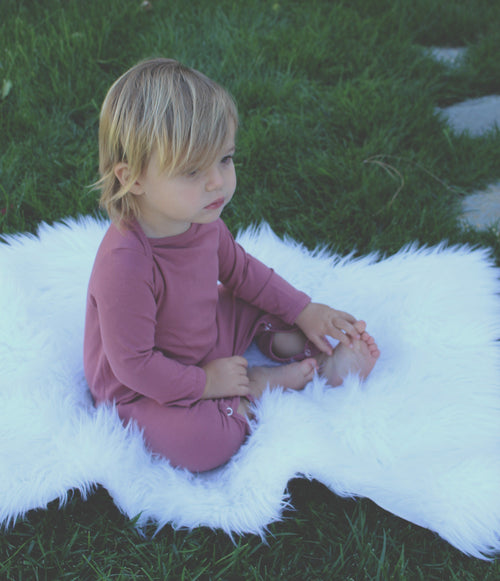 Baby Snap Romper - Rosy Pink - LITTLE FOOT CLOTHING CO.