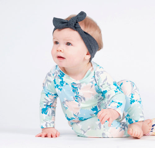 BABY SNAP ROMPER - 3 FLORAL OPTIONS - LITTLE FOOT CLOTHING CO.
