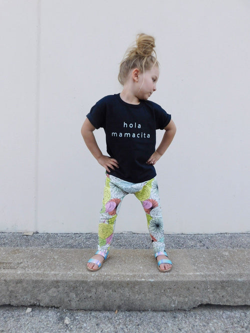 BOLD BLOOMS HAREM PANTS - LITTLE FOOT CLOTHING CO.