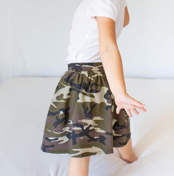 Girls Camo Skirt - LITTLE FOOT CLOTHING CO.