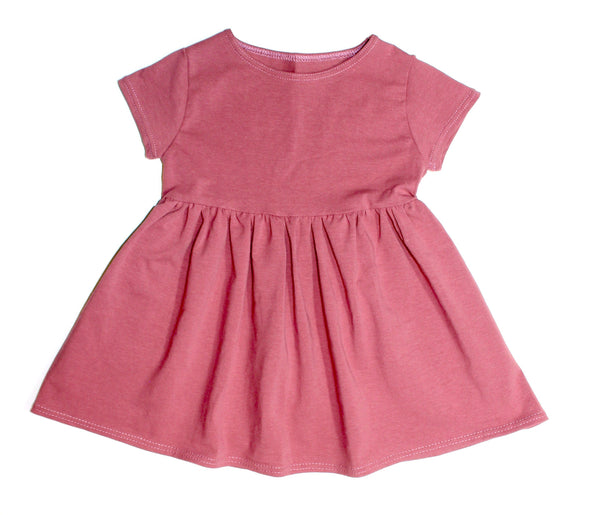 Girls Dusty Rose Cap Sleeve Dress Childrens Clothing Store Baby