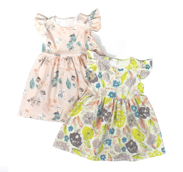 Emma Claire Floral Dress - 5 Options - LITTLE FOOT CLOTHING CO.