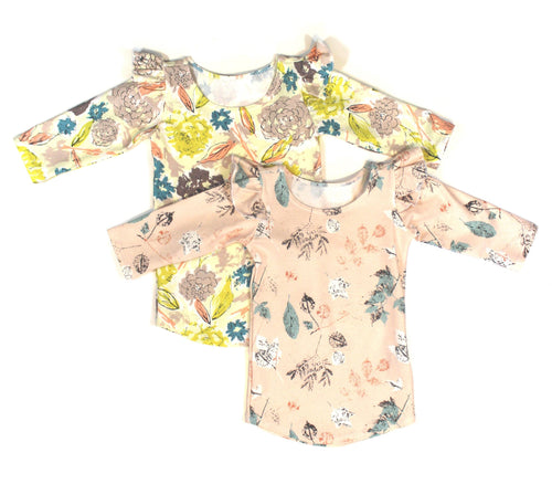 Girls floral long sleeve top - 5 options - LITTLE FOOT CLOTHING CO.