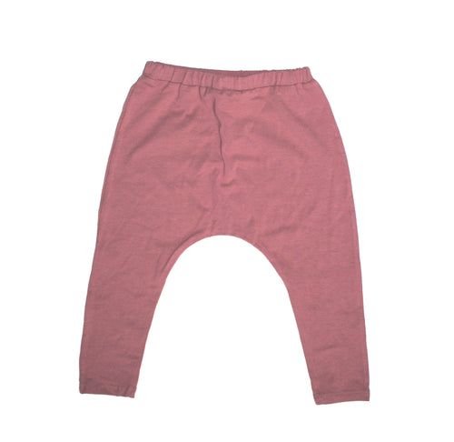 UNISEX DUSTY ROSE HAREM PANTS - LITTLE FOOT CLOTHING CO.