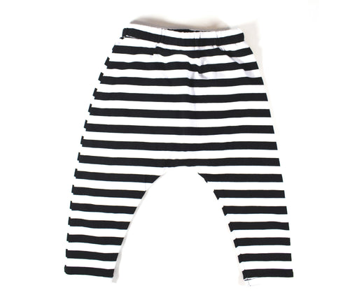 UNISEX STRIPE HAREM PANTS - 2 OPTIONS - LITTLE FOOT CLOTHING CO.