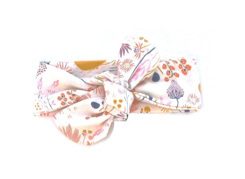 Top knot headband cream garden headband (Baby girls, toddler girls, little girls & big girls). One size only!